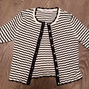 ZARA striped cardigan